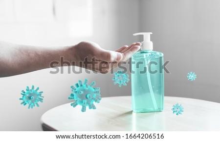 Hand sanitizer gel against Coronavirus