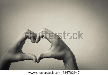 Hand shaped heart.  #484703947