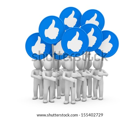 Hand Shaped mouse Cursor thumb up like man facebook share good social media share 3D symbol icon button illustration