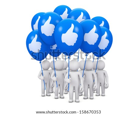 Hand Shaped mouse Cursor thumb up like man share good social media share 3d symbol icon button balloon