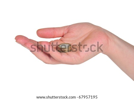 hand showing euro currencies