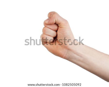 Hand showing gestures on a white background #1082505092
