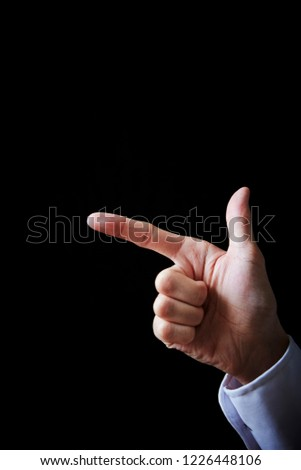 Hand sign background  #1226448106