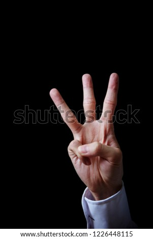 Hand sign background  #1226448115