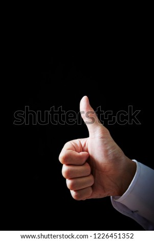Hand sign background  #1226451352