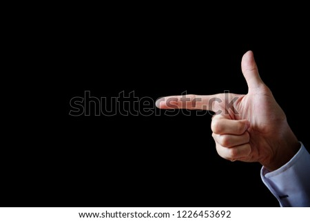 Hand sign background  #1226453692