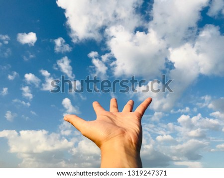 Hand sign background  #1319247371
