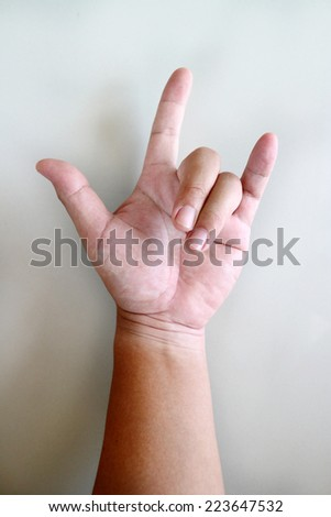 Free Photos Letter U In Sign Language Hand On A White Background