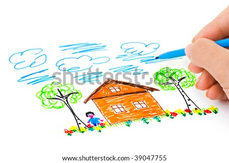 Hand sketching picture - abstract art background