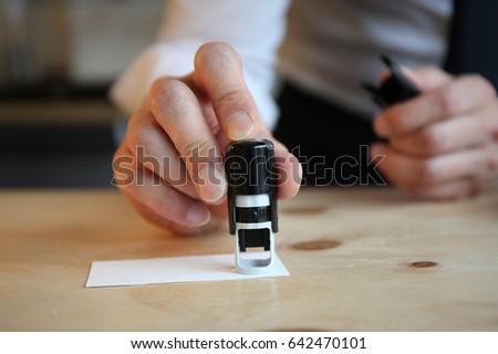 Hand stamp #642470101