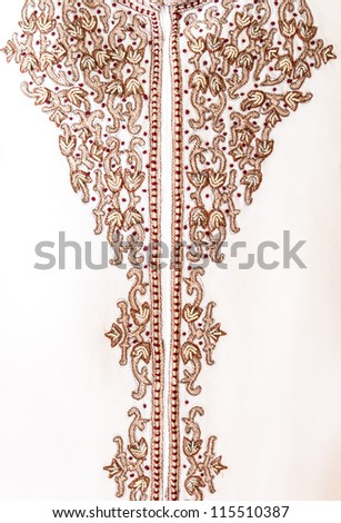 Hand stitched heavy embroidery cloth for traditional Indian wedding or ceremony. Sherwani