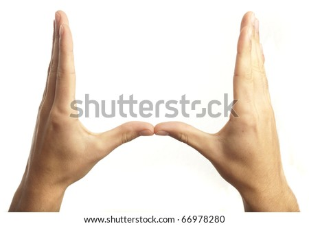 hand symbol isolated on a white background
