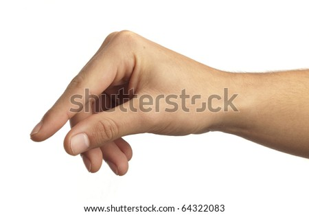 hand symbol that means catch on white background