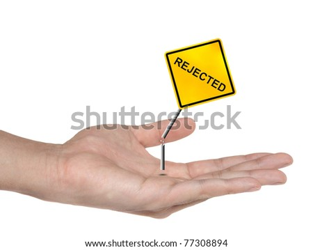 hand symbol with rejected sign isolated , business concept