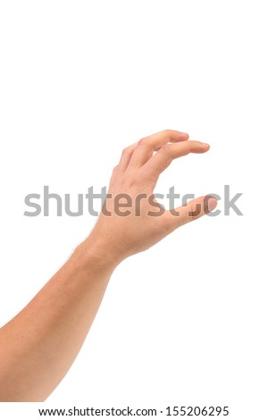 Hand that can hold something. Isolated on a white background.