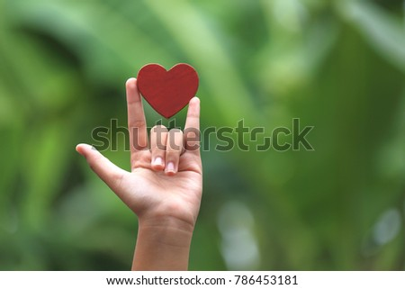 Hand that symbolizes love #786453181