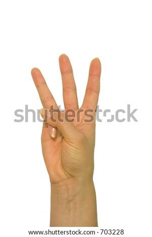 Hand, three - stock photo
