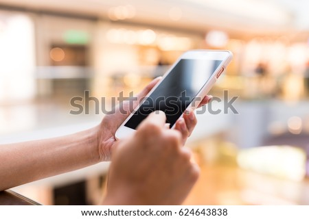 Hand touch on cellphone #624643838