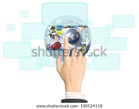 hand Touch-screen Internet.