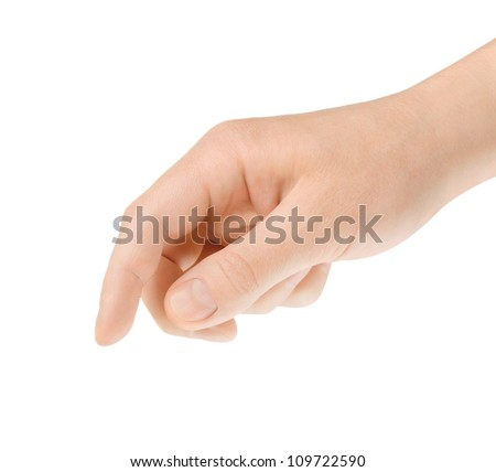 hand touching screen or click on the button - stock photo