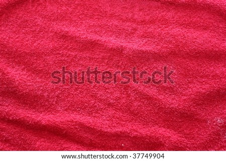 hand towel texture cotton red