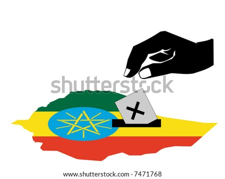 hand voting with ballot paper in Ethiopian election  JPG