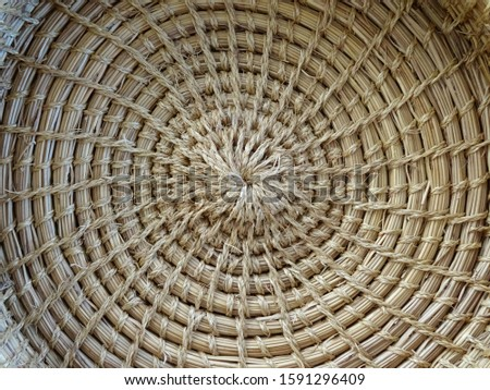 Hand weaved natural raffia basket.                              Photo stock ©