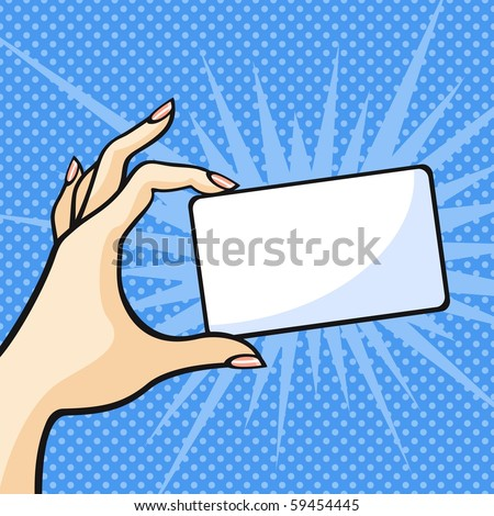 Hand with a card (raster version)