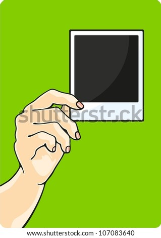 Hand with a photo (raster version)
