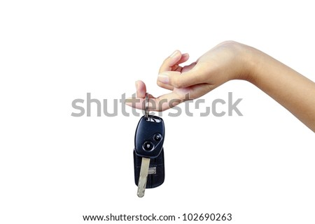 Hand with automobile's keys