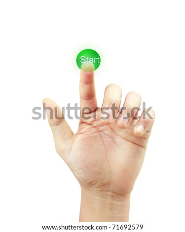 hand with button