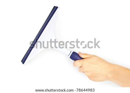 Hand with cleaning tool