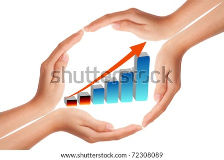 Hand with growing graph