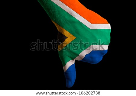 South africa - national flag and outline maps