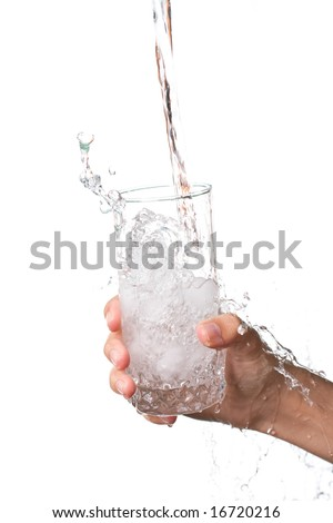Hand with water glass