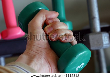 Hand with weight