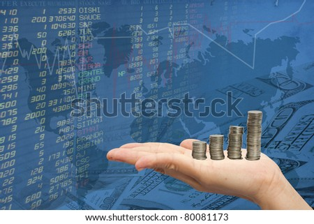 hand women and the stock trades.