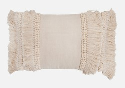 Hand Woven Patterned Throw Pillow Cover.