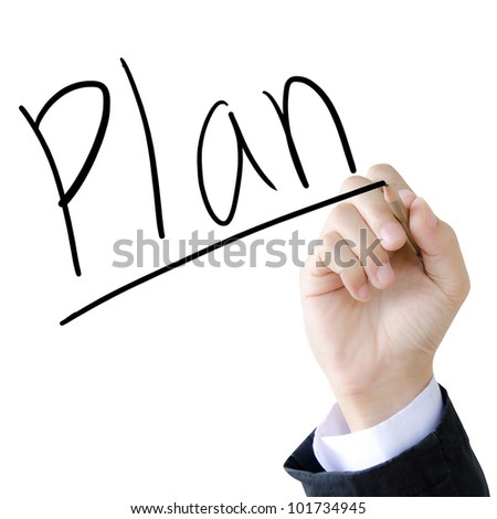 hand write a plan word