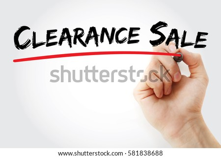 Hand writing Clearance sale with marker, concept background