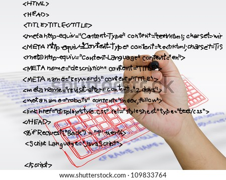 Hand writing computer source code with sketching keyboard