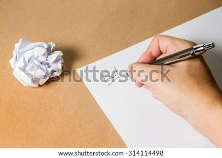 Hand writing \
