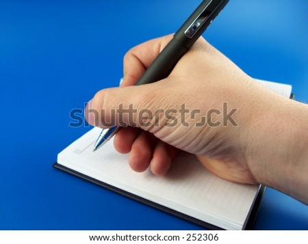 hand writing in notebook #252306