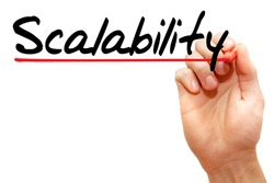 Hand writing Scalability with marker, business concept