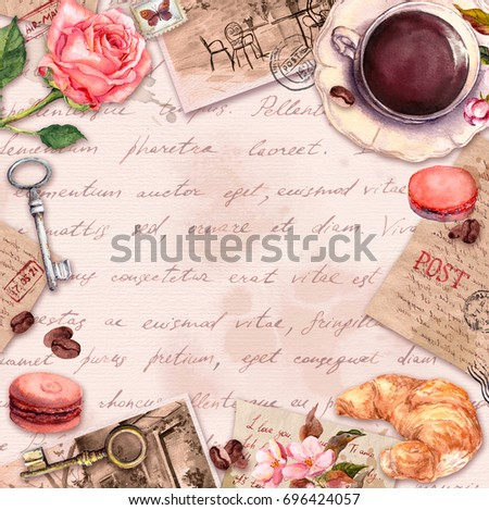 hand written letters  coffee or ...