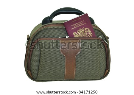 Handbag with passport