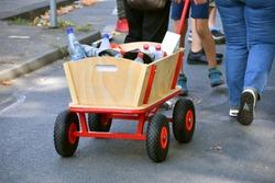handcart at a procession