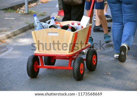 handcart at a procession - Shutterstock ID 1173568669