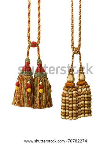 Handcraft tassels for any drapery isolated on white