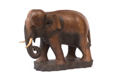 handcraft wood elephant sculpture from Asia